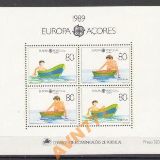 Португалия Азоры 1990 Европа EUROPA блок MNH