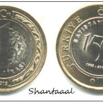 Shantaaal, Турция 1 лира 2012 Счетная палата UNC