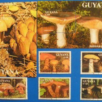 Гайана. 1991 г. Грибы