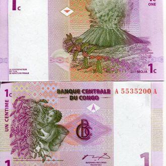 Конго 1 сантим 1997 UNC прес
