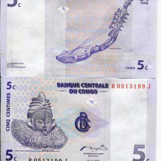 Конго 5 сантим 1997 UNC прес