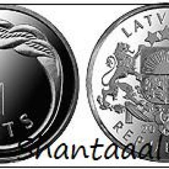 Shantaaal, Латвия 1 лат Кольцо Намейса, UNC, 2009
