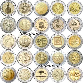 2 евро 2015 год Юбилейные монеты 2015, 25 монет