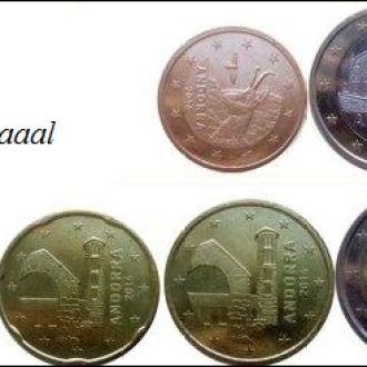 Shantaaal, Андорра набор евро монет 6 шт. 2014 г