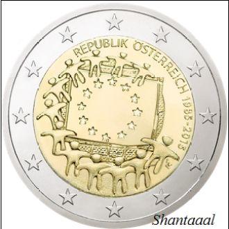 Shantaaal, Австрия 2 евро 30 лет Флагу Европы 2015