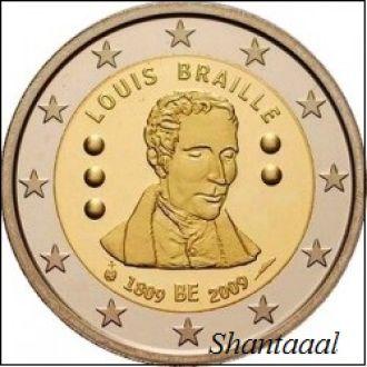 Shantaal, Бельгия 2 Евро 2009, Луи Браиль