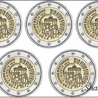 Shantal,Германия 2 Евро Объединение 2015 A,D,F,J,G