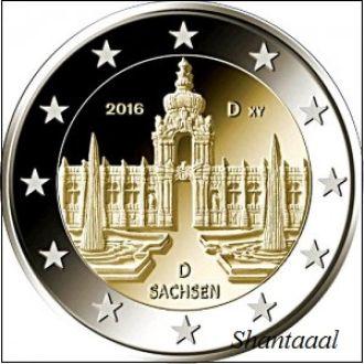 Shantaaal, Германия 2 Евро 2016 Саксония