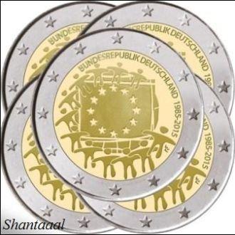 Shantaaal, Германия 2 Евро 2015, A,D,F,J,G Флаг