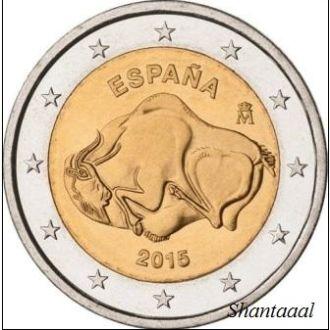 Shantаl,Испания 2 Евро Наскальные рисунки 2015