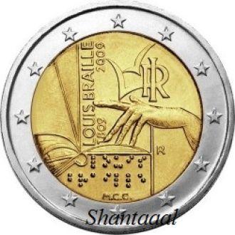 Shantaal, Италия 2 Евро Луи Брайль 2009