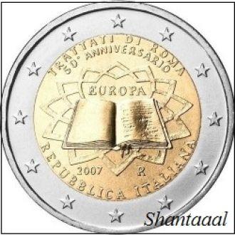 Shantаal, Италия 2 Евро Римский договор 2007 UNC