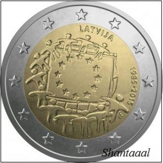 Shantaaal, Латвия 2 евро 30 лет Флагу  2015