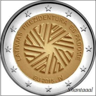 Shantaaal, Латвия 2 евро Председательство 2015