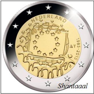 Shantаl, Нидерланды 2 евро 2015 Флаг