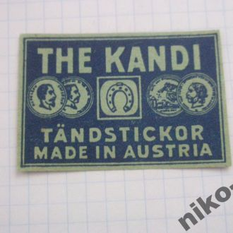 Австрійська довоєнна сірникова етикетка №11.