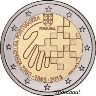 Shantаal,Португалия 2 Евро Красный Крест 2015