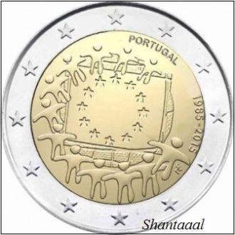 Shantаal,Португалия 2 Евро 30 лет Флагу 2015