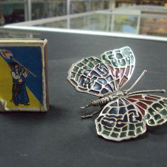 """бабочка серебро 31.15 г  800"""""""