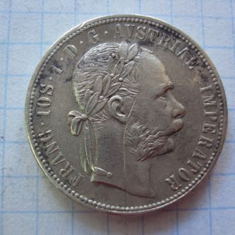 1 флорин 1876 год Австрия серебро