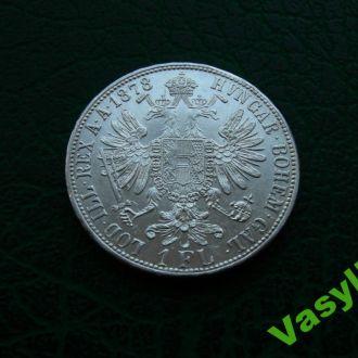 Австро-Венгрия 1 флорин 1878 г. Серебро! UNC!!!