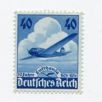 ГЕРМАНИЯ 1936 РЕЙХ** САМОЛЕТ АВИАЦИЯ