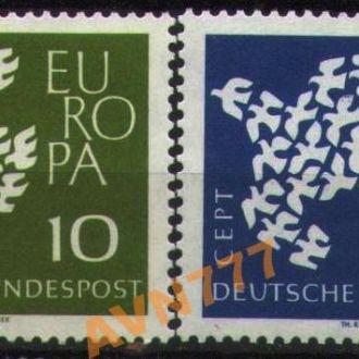 Германия ФРГ 1961 EUROPA CEPT Птицы серия MNH