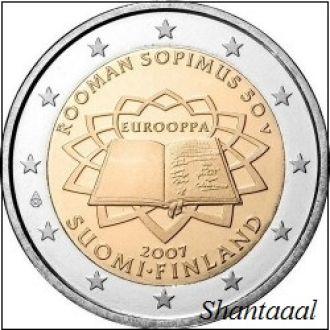 Shantаal,Финляндия 2 Евро Римский договор 2007 UNC