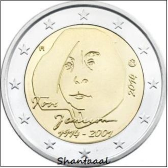 Shantаal, Финляндия 2 Евро Туве Янссон 2014