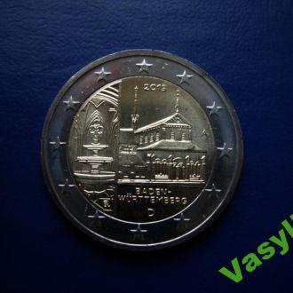 Германия 2 евро 2013 г. Баден-Вюртемберг  UNC!