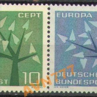 Германия ФРГ 1962 Европа СЕПТ Деревья серия MNH