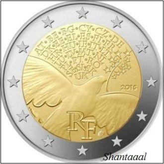 Shantаal, Франция 2 Евро 70 лет мира 2015