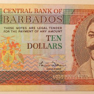 Барбадос 10 долларов