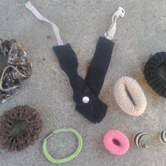 Кульчики, сережки, брошки, резинки одним лотом