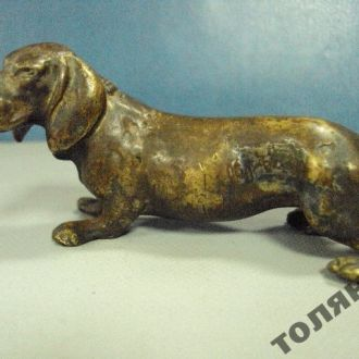 собака собачка такса бронза