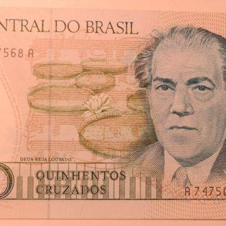 Бразилия 500 крузадо 1987год