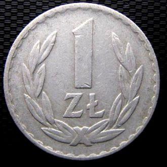 Польша 1 злотый 1975 год