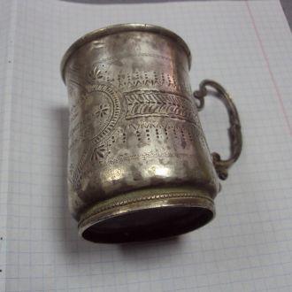 рюмка стакан иудаика серебро 111.57г