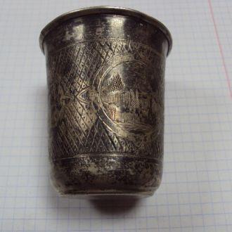 рюмка стакан иудаика серебро 61.62г