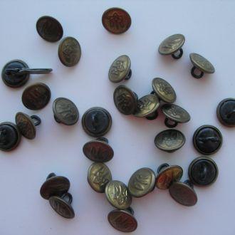Пуговицы маленькие латунь Тризуб Украина 30 шт