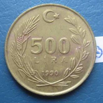500 лир 1990 г., Турция.