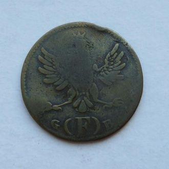 Франкфурт 2 пфеннига 1797 ? (F) GB  Нечастая!