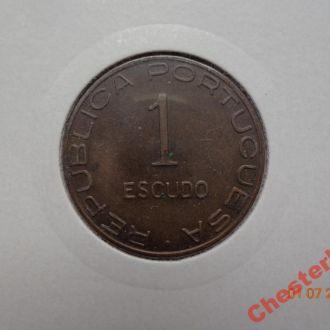 Португальский Мозамбик 1 эскудо 1945 СУПЕР состояние очень редкая