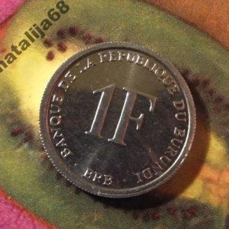 Бурунди монета 1 франк 2003 год !