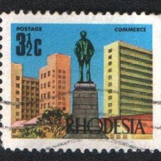 Родезия (1970-73) Металлургия, памятник С. Родсу