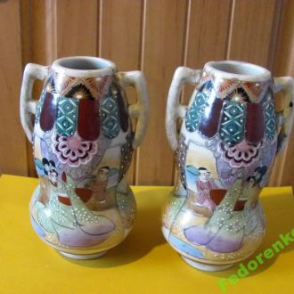 Парные японские вазочки.