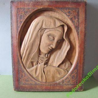 Деревянная икона. Католическая.