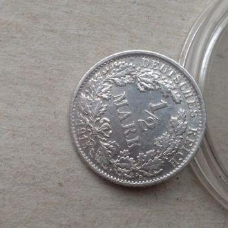 Германия 1/2 марки 1915 F штемпель серебро Unc!!!
