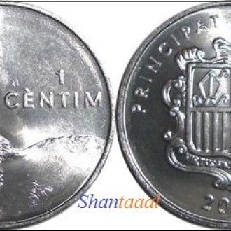 Shantaaal, Андорра 1 сантим 2002 UNC