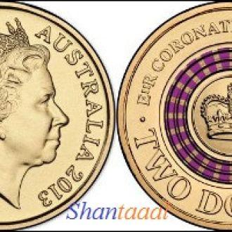Shantal, Австралия 2 доллара 2013 год UNC